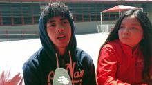 CBC's Zulekha Nathoo talks to students in Compton, Calif.