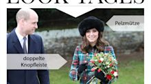Look des Tages: Herzogin Catherine im karierten Weihnachts-Look