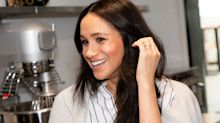 Meghan Markle looks effortlessly chic in a $135 striped button-up
