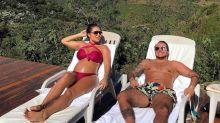 De biquíni, Andressa Ferreira exibe barriga em fim de semana relax com Thammy