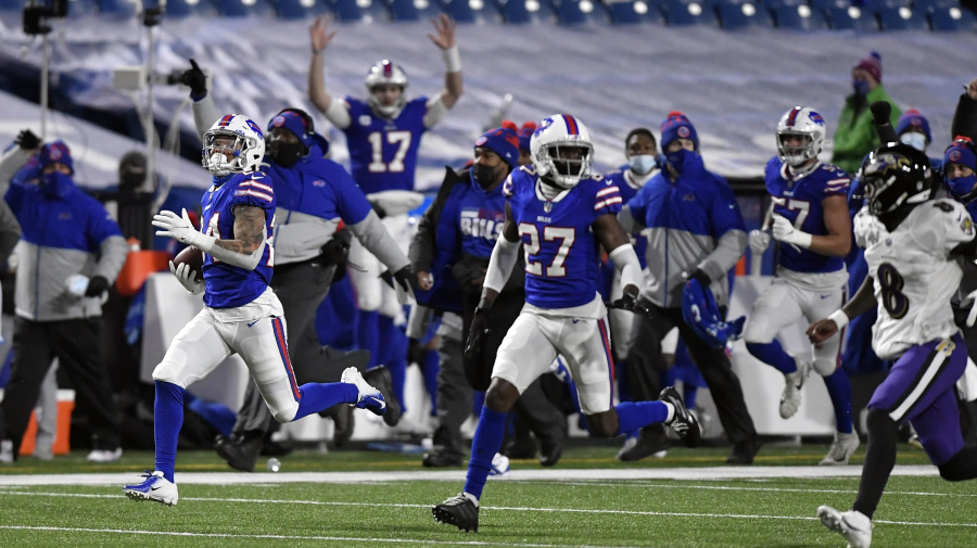 Allen good, Bills defense even better in playoff win