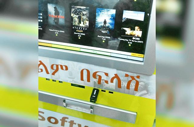 In Ethiopia, pirate movie kiosks hide in plain sight