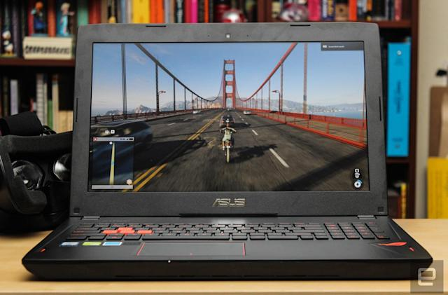 ASUS' ROG Strix GL502VS is a mid-range (and VR-ready) gaming laptop