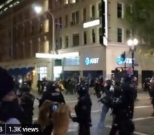 Riot declared in downtown Portland, protesters tear-gassed