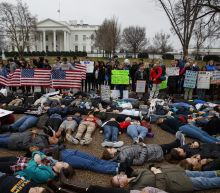 Teenagers stage 'lie-in' outside White House in support of Parkland shooting victims