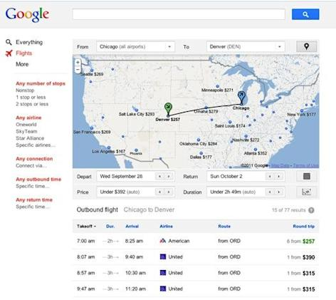 Google launches Flight Search service, Kayak shrugs it off (video)