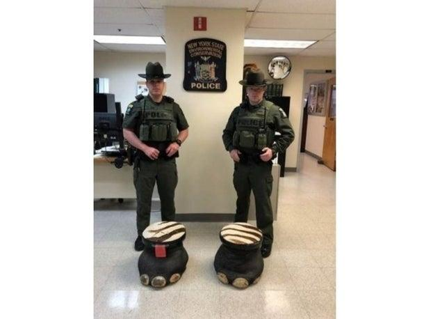 Investigators spotted these stools made from elephant feet listed for sale for $1,800.