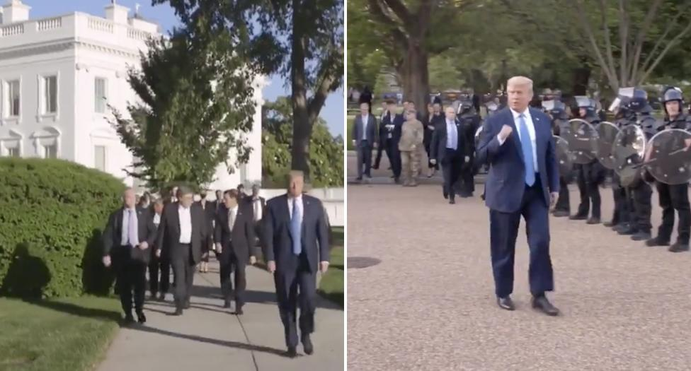 'This is a joke': White House slammed for 'repugnant' video of Trump outing