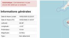 Un séisme de magnitude 3,8 surprend Brest