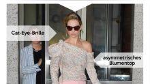 Look des Tages: Lily James im romantischen Pastell-Look