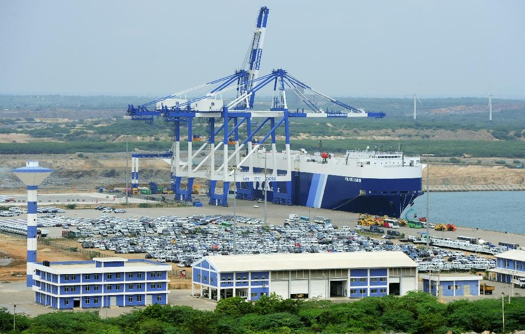 Unable to repay a huge Chinese loan, Sri Lanka handed over the deep sea port of Hambantota to a Beijing company in 2017 (AFP Photo/LAKRUWAN WANNIARACHCHI)