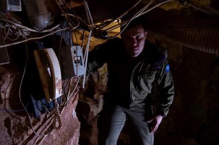 FILE PHOTO: Israeli Army Spokesperson, Lieutenant-Colonel Jonathan Conricus looks on during a media tour organised by the Israeli military inside a cross-border tunnel which Israel said was dug from Lebanon into Israel, near Zar'it in northern Israel