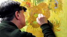 """Frágil aos 130 anos, """"Girassóis"""" de Van Gogh ficará em casa a partir de agora"""