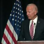 Joe Biden's verbal slip about campaign draws Democrats' cheers