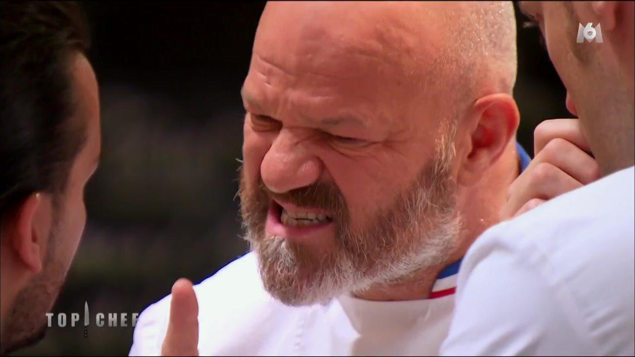 Top chef face un candidat insultant philippe for Cuisinier connu