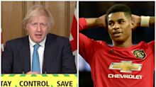 Boris Johnson admits he only became aware of Marcus Rashford's free school meal campaign 'today'