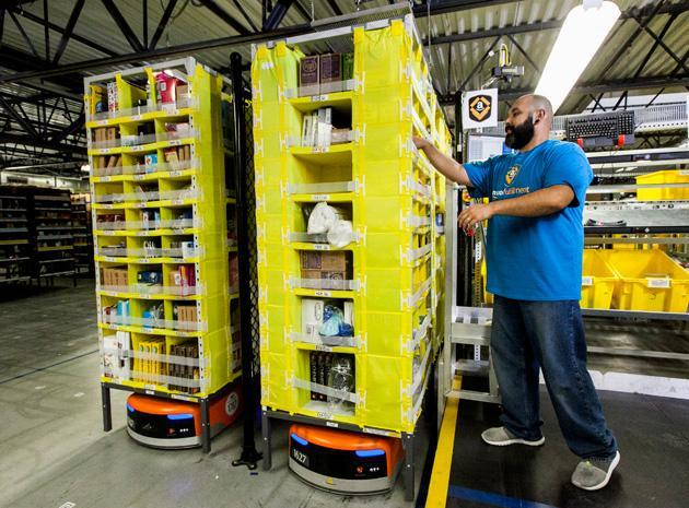 Amazon presume de su legión de eficaces robots (video)