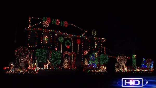 Neighborhood shines bright with Xmas lights