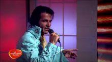 Mark Andrew performs Elvis hit medley