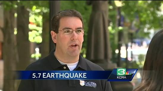 Damage results from 5.7 NorCal quake