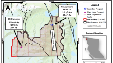 Core Assets Provides Update on Its VTEM(TM) Survey at the Blue Property, Atlin, B.C.