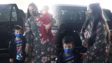 Arpita Khan Spotted at Airport Andheri With Kids