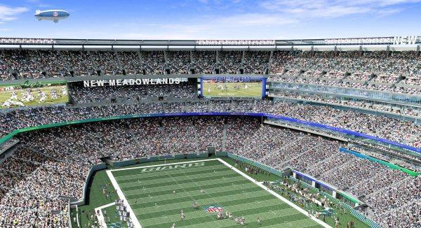 New Meadowlands Stadium features four 103- by 30-foot HD screens