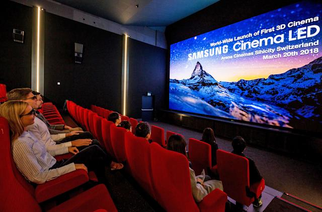 Samsung's first 3D Cinema LED screen launches in Swiss theater