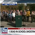 Officials hold press conference following school shooting in Santa Clarita, California