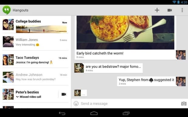 Google Hangouts bug sends messages to the wrong people (update: fixed)