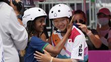 Nishiya, just 13, gives Japan sweep in street skateboarding