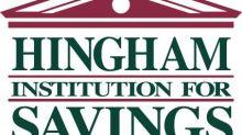 Hingham Savings Increases Regular Dividend to $0.49 per Share