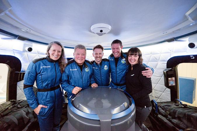 William Shatner becomes the oldest person to reach space