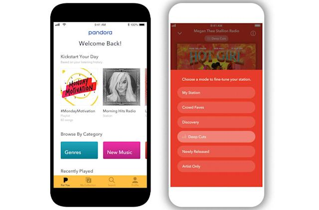 Pandora makes its redesigned mobile app available to everyone