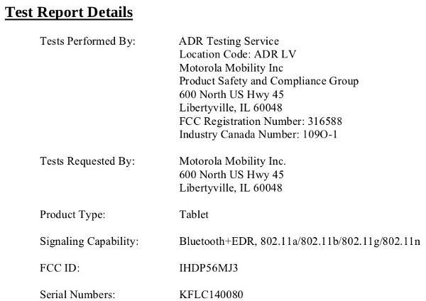 Mystery Moto tablet swings through the FCC, refuses to take any questions