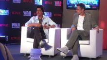 In Pictures: Brad Pitt Chats With Shah Rukh Khan in Mumbai