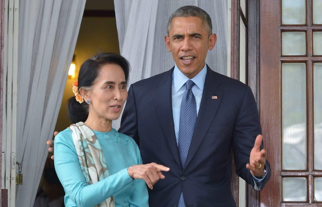 US President Barack Obama met Aung San Suu Kyi during a 2014 visit to Myanmar (AFP Photo/Mandel Ngan)