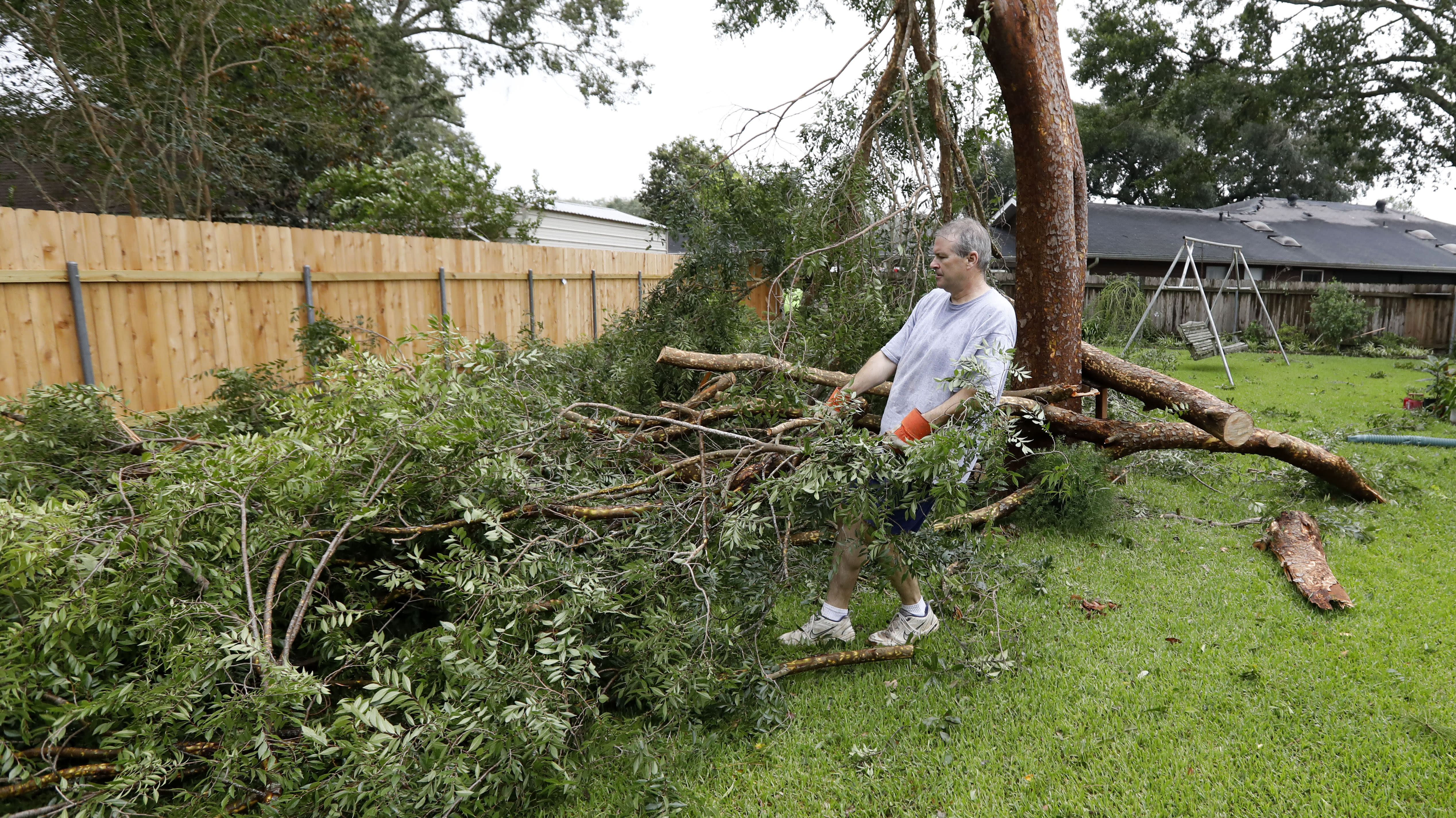 The Latest: Louisiana governor 'grateful' storm wasn't worse