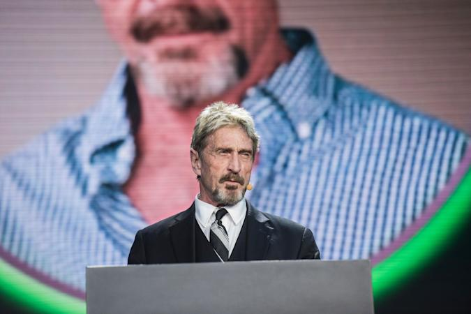 John McAfee, founder of the eponymous anti-virus company, speaks during the China Internet Security Conference in Beijing on August 16, 2016. / AFP / FRED DUFOUR        (Photo credit should read FRED DUFOUR/AFP via Getty Images)