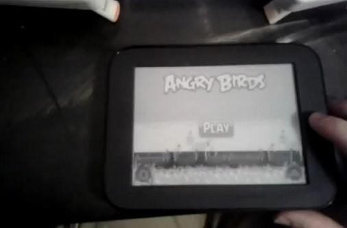 Rooted Nook WiFi loaded with Angry Birds, soars then stalls (video)