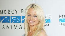 Pamela Anderson, recatada y artística por los animales