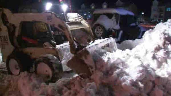 Long Island digs out from heavy snow