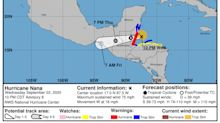 Hurricane Nana forms and makes landfall in Belize, and 2 tropical waves forecast to merge