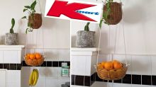 Clever trick turns $7.50 Kmart buy into kitchen space saver