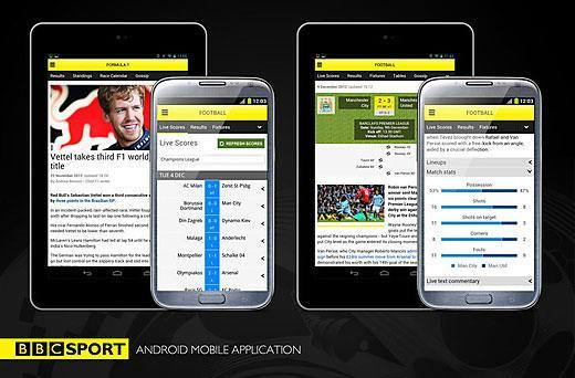 BBC Sport app launches on Android phones, includes support for 7-inch tablets