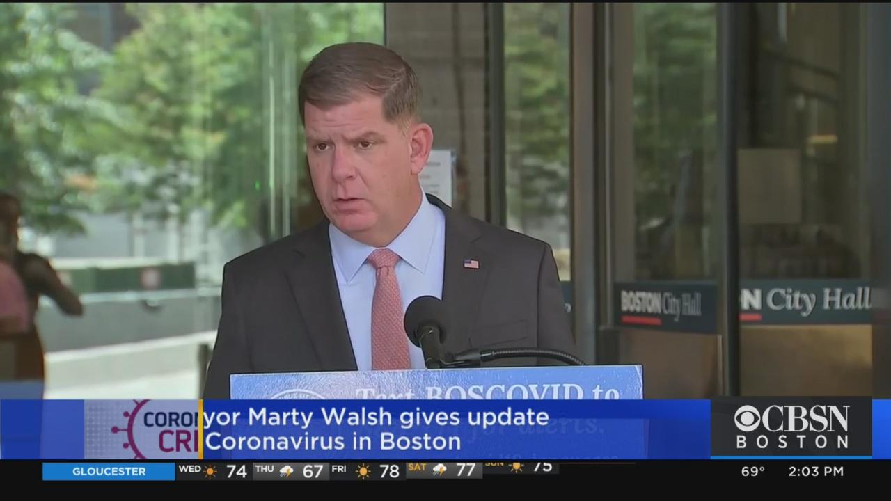 Mayor Marty Walsh Gives Coronavirus ...