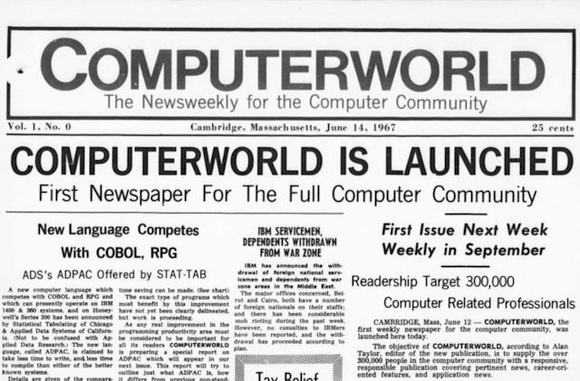 The Internet Archive now has better scans of Computerworld magazine
