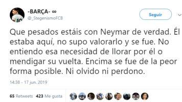 División en las redes entre los culés por la posible vuelta de Neymar