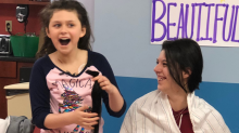 'Bald is strong': 4th-grader with cancer throws head-shaving party