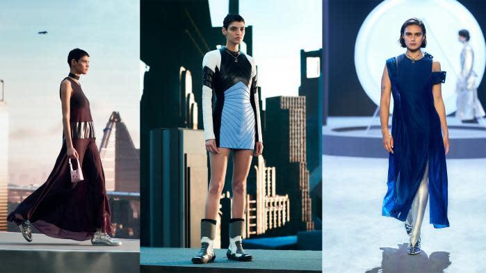 Sequins, glitters, volants et bombers : les tendances optimistes de la Fashion Week féminine de Milan pour l'automne-hiver 2021-22